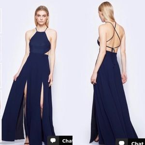 NWT Fame and Partners Navy Blue Dreamers Dress